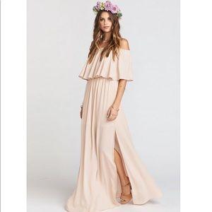 NWT SMYMM Hacienda dress in dusty blush crisp